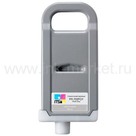 Совместимый картридж PFI-702 Photo Gray Pigment 700 мл для Canon imagePROGRAF 8100/9100
