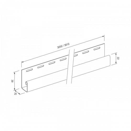 J-trim (J-профиль) для винилового сайдинга VOX Standart