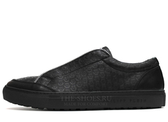 Кеды Мужские Philipp Plein Low-Top Zipper Embossed-Logo