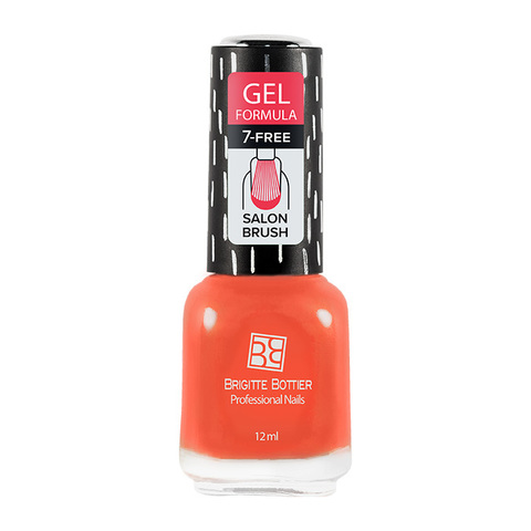 Brigitte Bottier Gel Formula Гелевый лак тон 44 яркий оранжевый 12мл