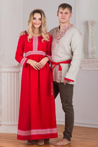 Комплект платье Алатырь и рубаха Княжич