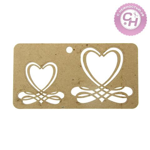 Чипборд Каллиграфические сердечки 19 × 10 × 0,1 см.