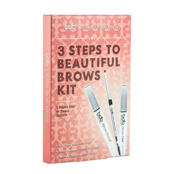 Набор для оформления бровей 3 STEPS TO BEAUTIFUL BROWS KIT
