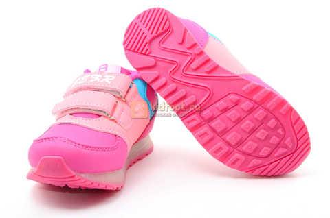 Светящиеся кроссовки Бебексия (BEIBEIXIA) для девочек, цвет розовый, светится вся подошва. Изображение 8 из 10.