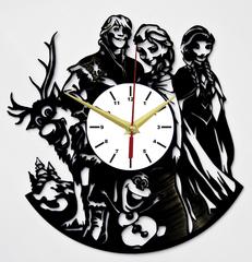 Холодное сердце Часы из Пластинки — Олаф, Кристофф