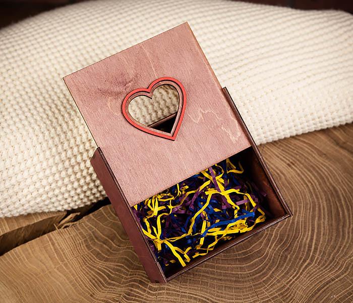 BOX210-3 Коробка с веревочными ручками фиолетового цвета фото 05