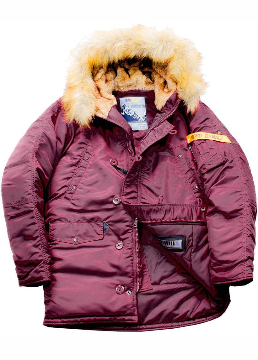 Куртка Аляска  Husky Denali  (бордовая - burgudy)