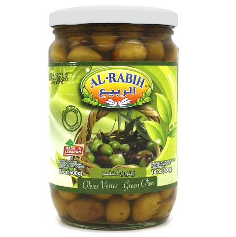 Оливки зеленые с косточкой, AlRabih, 600 г