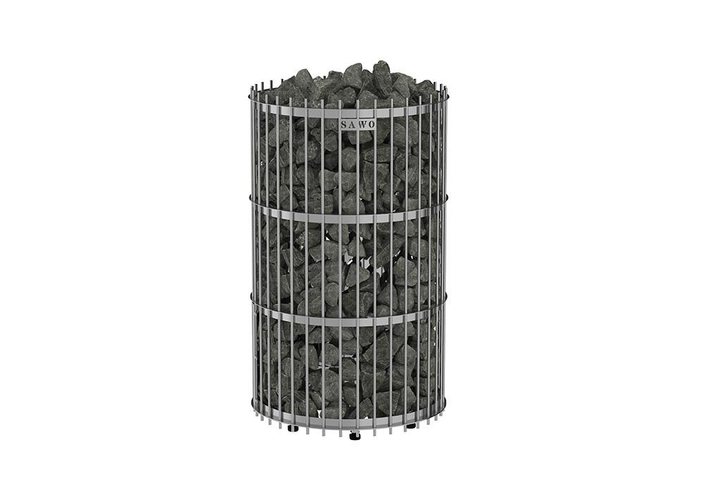 Электрокаменки: Электрическая печь SAWO Orion ORN-120NS-G-P (12 кВт, выносной пульт, нержавейка, напольная)