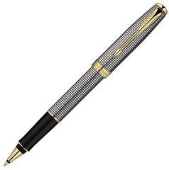 Ручка-роллер Parker Sonnet Т534, цвет: Cisele (серебро 925 пробы, 17.85), стержень: Fblack, S0808160