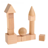 Геометрические фигуры из дерева, 14 предметов 1