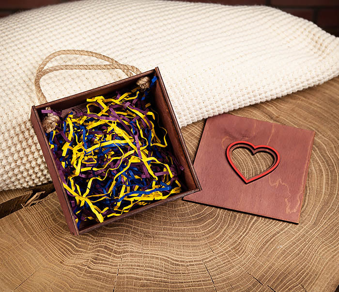 BOX210-3 Коробка с веревочными ручками фиолетового цвета фото 06