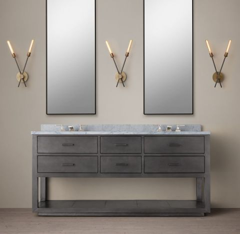 La Salle Metal-Wrapped Double Washstand