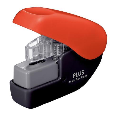 Бесскобочный степлер (плиер) Plus Paper Clinch Mini (красно-черный)