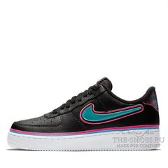 Кроссовки мужские Nike Air Force 1'07 LV8 Black Pink Blue