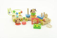 Игрушки из дерева Каталка-паровозик