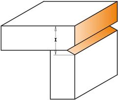 Фреза концевая CMT обгонная с подшипником D=19,0 I=25,4 S=8,0