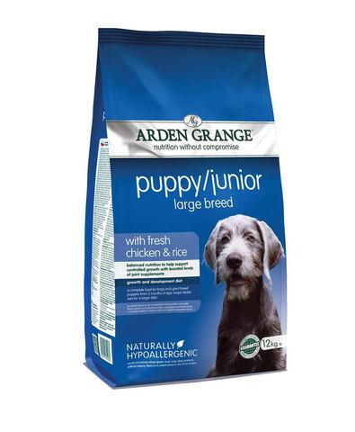 Arden Grange Puppy/Junior Large Breed сухой корм для щенков  крупных пород с Курицей и рисом 2 кг