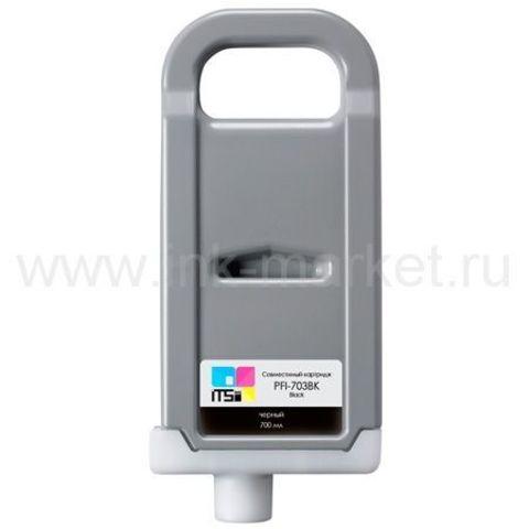 Совместимый картридж PFI-703 Black Dye 700 мл для Canon imagePROGRAF 810/810 Pro/815/820/820 Pro/825/825 MFP