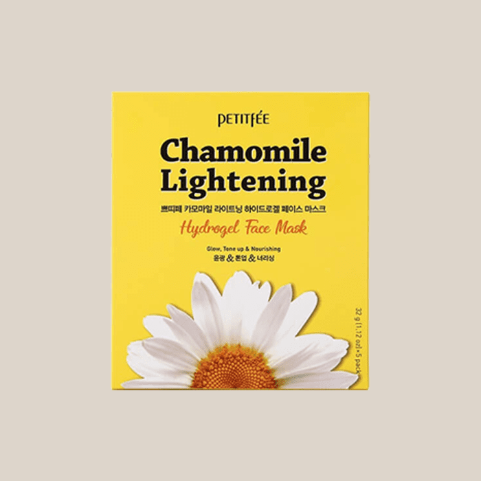 Маска для лица гидрогелевая с экстрактом ромашки Petitfee Chamomile Lightening Hydrogel Face Mask