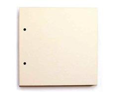 Картон пивной неокрашенный 1,2мм с двумя отверстиями, 20*20 см, 1 лист