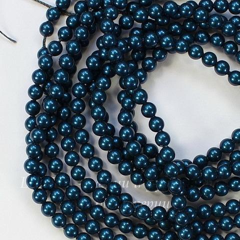 5810 Хрустальный жемчуг Сваровски Crystal Petrol круглый 4 мм, 10 штук