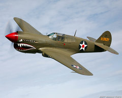 Plans 1/3.5 Scale CURTISS P-40E KITTYHAWK  r/c Plane