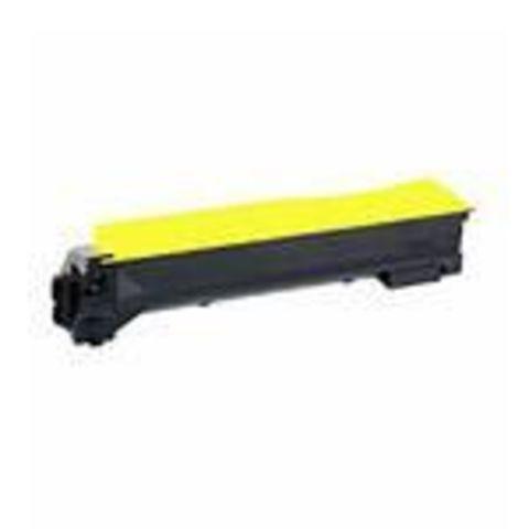 Совместимый картридж Kyocera TK-540Y желтый для принтеров Kyocera FS-C5100DN. Ресурс 4000 стр.