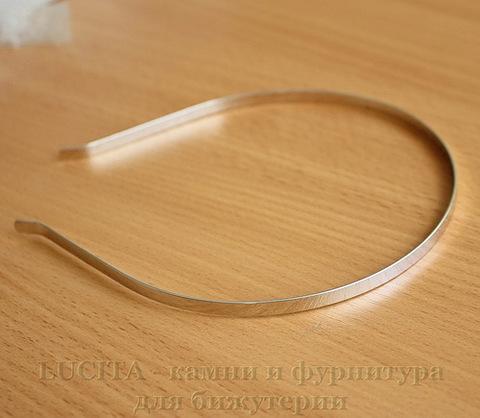 Ободок для волос 5 мм (цвет - никель)