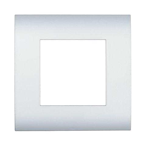 Рамка на 1 пост. Цвет Серебристый металлик. LK Studio LK45 (ЛК Студио ЛК45). 854103
