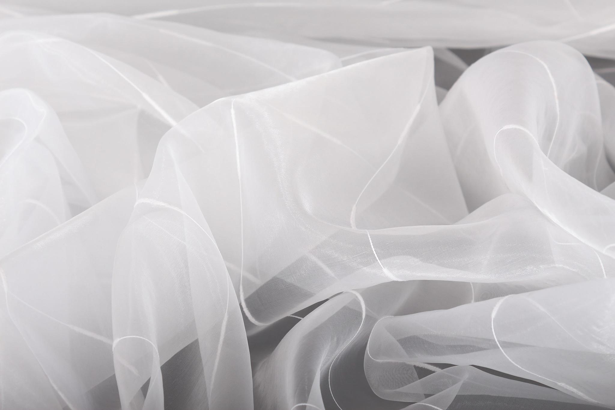 Тюль. Органза Дождик (белый)