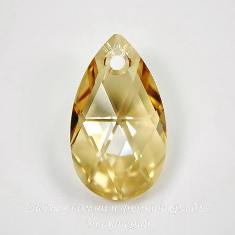 6106 Подвеска Сваровски Капля Crystal Golden Shadow (16 мм)