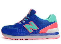 Кроссовки Женские New Balance 574 Blue Mint Pink