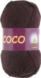 Пряжа Vita Coco темный шоколад 4322