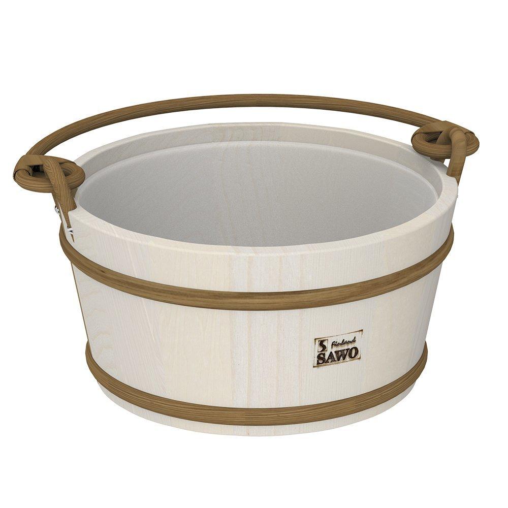 Ведра и кадушки: Ведро деревянное SAWO 300-HA (9 литров, с пластиковой вставкой) ведра и кадушки кадушка деревянная sawo 300 tp 9 литров с пластиковой вставкой