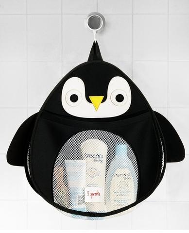 Органайзер для ванны 3 Sprouts Черный пингвин