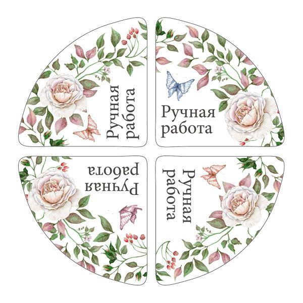 Уголок на коробку Белые розы