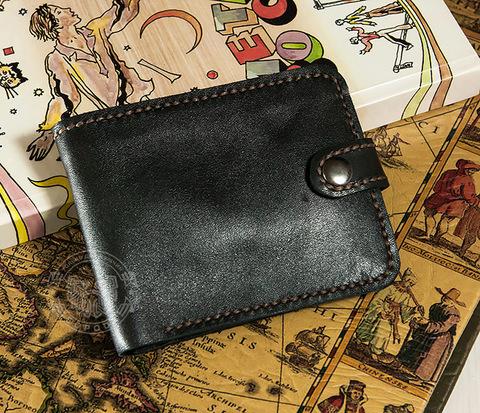 WL264 Вместительное портмоне с отделением для купюр и карт, ручной шов
