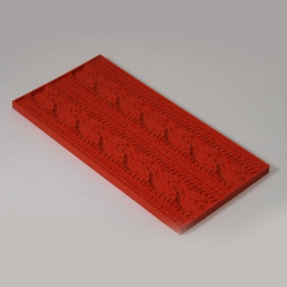Текстурный лист для мыловарения Вязаный орнамент