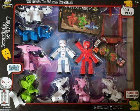 Набор стикботов StikBot Monsters 2 фигурки + 7 динозавров