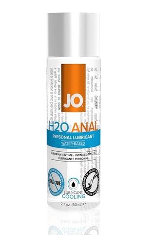 Анальный охлаждающий любрикант на водной основе JO Anal H2O COOL, 2 oz (60мл.) фото