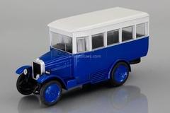 AMO-F-15 bus 1924-1931 blue-white 1:43 DeAgostini Auto Legends USSR #217