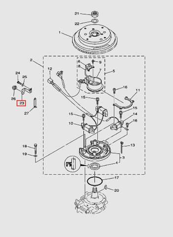 Защелка для лодочного мотора T40 Sea-PRO (8-23)