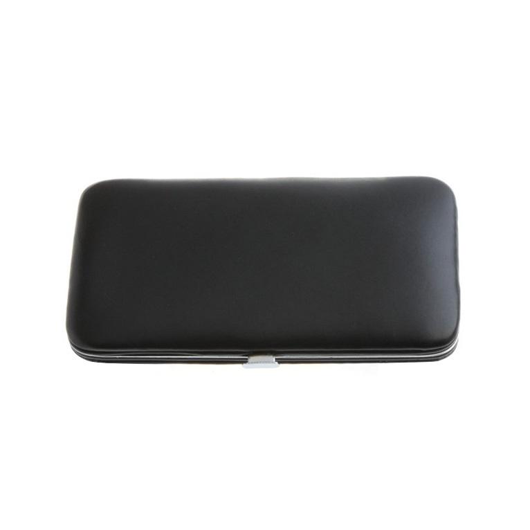 Маникюрный набор Dovo, 6 предметов, цвет черный, кожаный футляр