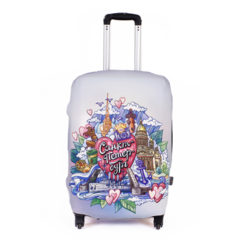 чехол для чемодана «санкт-петербург», размер m/l (52-65 см)