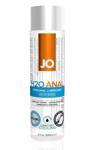 Анальный охлаждающий любрикант на водной основе JO Anal H2O COOL, 4 oz (120мл.) фото