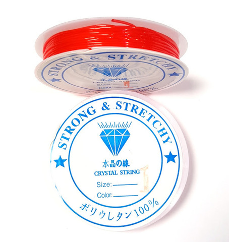 Спандекс - силиконовая нить 1,0 мм красный