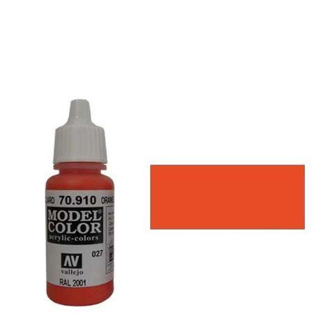 027. Краска Model Color Красно-Оранжевый 910 (Orange Red) укрывистый, 17мл