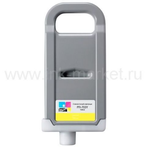 Совместимый картридж PFI-703 Yellow Dye 700 мл для Canon imagePROGRAF 810/810 Pro/815/820/820 Pro/825/825 MFP