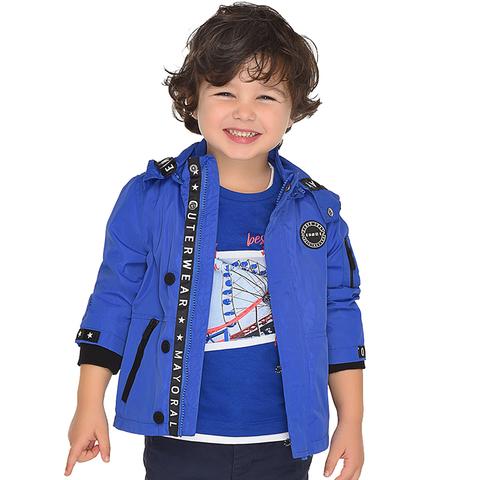 Куртка-ветровка Mayoral синяя в морском стиле